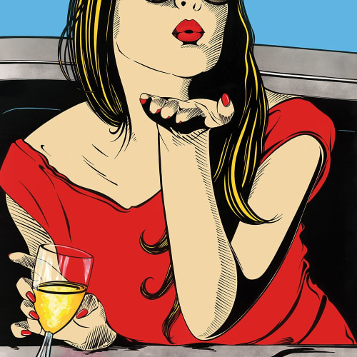 Deborah Azzopardi  The Great Escape, 2015  Limited Edition Silkscreen Print with Platinum Leaf  Framed:  124 x 110 cm  48 7/8 x 43 1/4 in.  Unframed:  101.1 x 86.1 cm  39 3/4 x 33 7/8 in.  Edition of 15