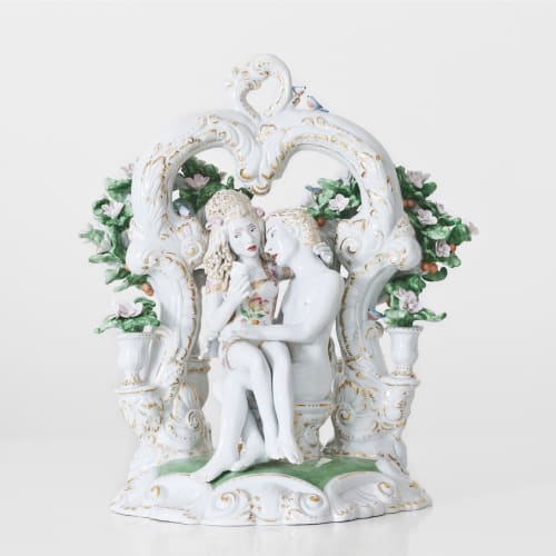 Chris Antemann  Love Letter, 2013  Meissen Porcelain  38.1 x 27.9 x 29 cm 15 x 11 x 11 3/8 in.  Edition of 8