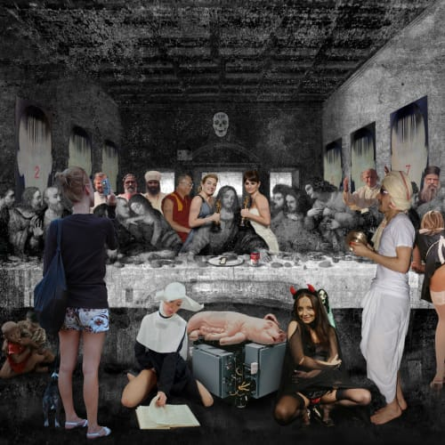 Lluís Barba  Santa Cena Leonardo (The Last Supper), 2009  C-Type Print, Diasec Mounted  110 x 150.1 cm  43 1/4 x 59 1/8 in.  AP 1
