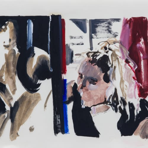Eleanor Watson  Juliette study, 2017  Oil on paper  20 x 30 cm  7 7/8 x 11 3/4 in.