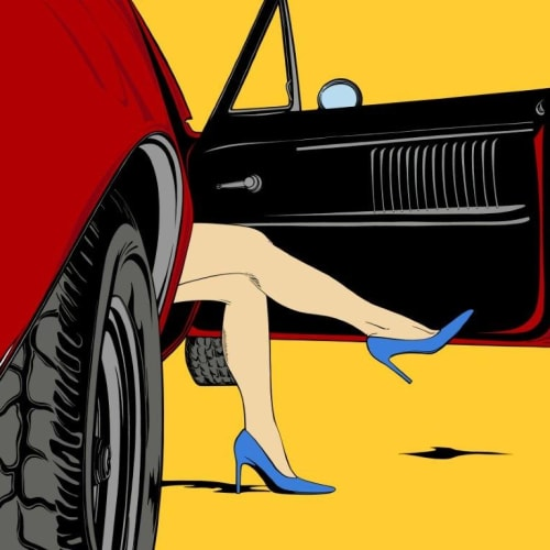 Deborah Azzopardi  Firebird, 2016  Limited Edition Screen Print with Platinum Leaf  109.2 x 130.8 cm 43 x 51 1/2 in.  Edition of 15