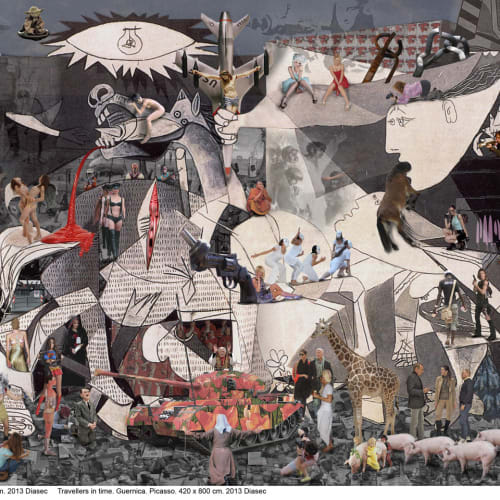 Lluís Barba  Guernica – Picasso, 2013  C-Type Print, Diasec mounted  148.6 x 303.5 cm  58 1/2 x 119 1/2 in.  *Larger size available  Edition of 7 plus 2 artist's proofs