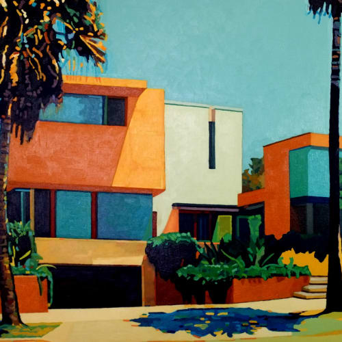 Andy Burgess  LA Modern, 2014  Oil on Canvas  91.4 x 121.9 cm  36 x 48 in.