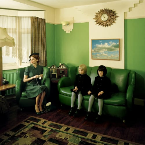 Lottie Davies  Viola as Twins, 2009  C-Type print on aluminium in tray frame  78.4 x 100 cm 30 7/8 x 39 3/8 in.  AP2