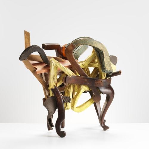 Grant Aston  Reconciliation, 2016  Ceramic/wood/metal  With 1 X Plinth  60 x 70 x 60 cm  23 5/8 x 27 1/2 x 23 5/8 in.