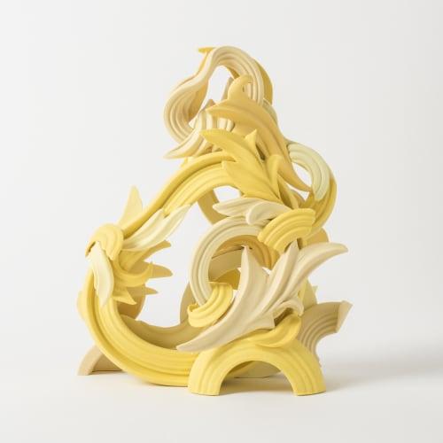 Jo Taylor  Pride & Joy Yellow I, 2017  Porcelain/ Grogged porcelain  25 x 20 x 9 cm  9 7/8 x 7 7/8 x 3 1/2 in.