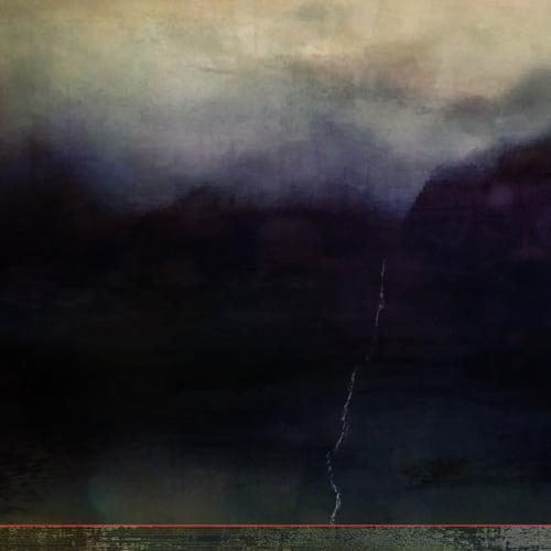 Jillaine Jurchuk  The Lonely Waterfall - Banff  Mixed media on aluminum  31 x 24 in  78.7 x 61 cm