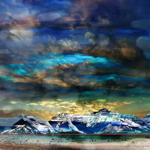 Jillaine Jurchuk  Surrender  Mixed media on aluminum  24 x 24 in  61 x 61 cm