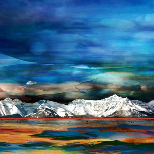 Jillaine Jurchuk  Shadow of the Day  Mixed media on aluminum  40 x 60 in  101.6 x 152.4 cm