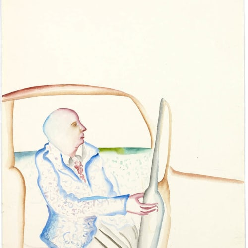 Bhupen Khakhar, Man Getting Out of His Car, 1979