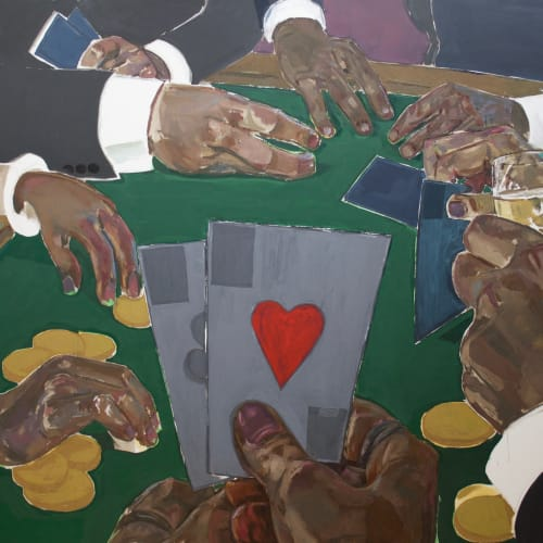 Enrico Riley, Untitled: Card Players, Riches of the Past, Present, Future, 2020