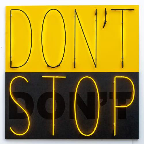 "Deborah Kass, ""Don't Stop 1 (Yellow/Black)"", 2020"