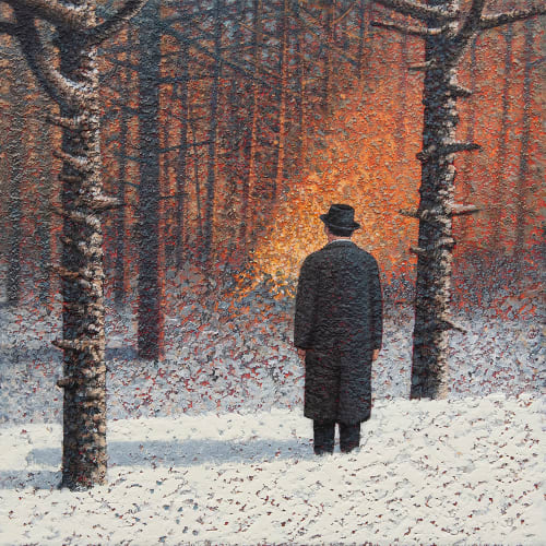 "<span class=""artist""><strong>Mark Edwards</strong></span>, <span class=""title""><em>Watching the Fire</em>, 2020</span>"