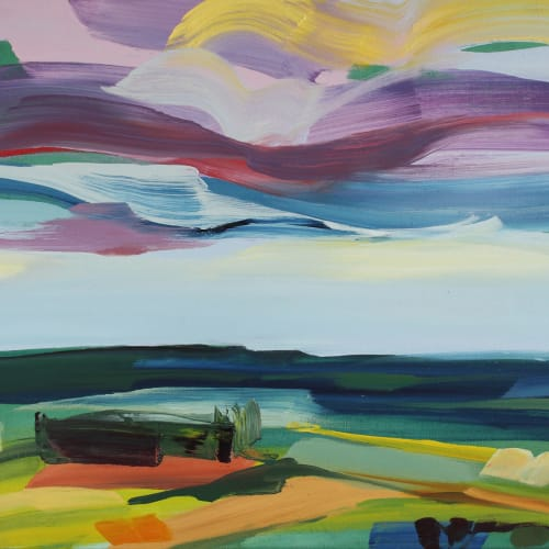 Shona Barr  Wild Sky  oil on canvas  71.1 x 91.4 cm  28 x 36 in