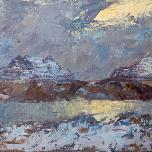 Allan MacDonald  one light source, Cul Mhor  oil on canvas  51cm x 76cm