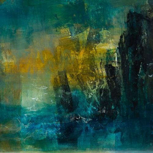 Kirstie Cohen  Cliffs, 2020  acrylic on board  27cm x 34cm