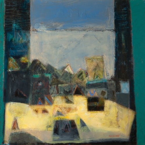 Charles MacQueen RSW RGI  Studio Window, 2016  mixed media  71cm x 74cm  28 x 29 in