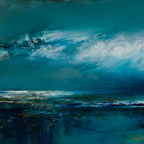 Kirstie Cohen  Ocean Breeze, 2018  oil on board  25cm x 60cm