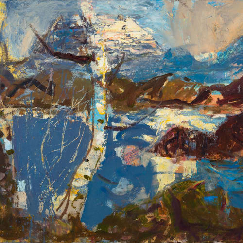 Allan MacDonald  it comes together, 2020  oil on canvas  76 x 101 cm  29 7/8 x 39 3/4 in