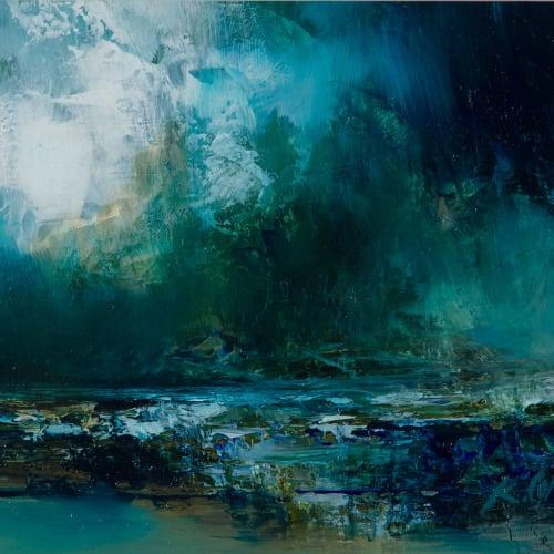 Kirstie Cohen  Seascape study, 2018  oil on board  14cm x 20cm