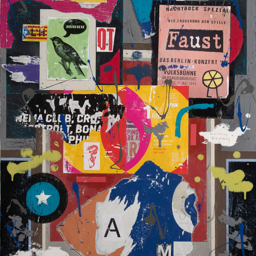 Colin Brown  Faust  mixed media  92cm x 61cm