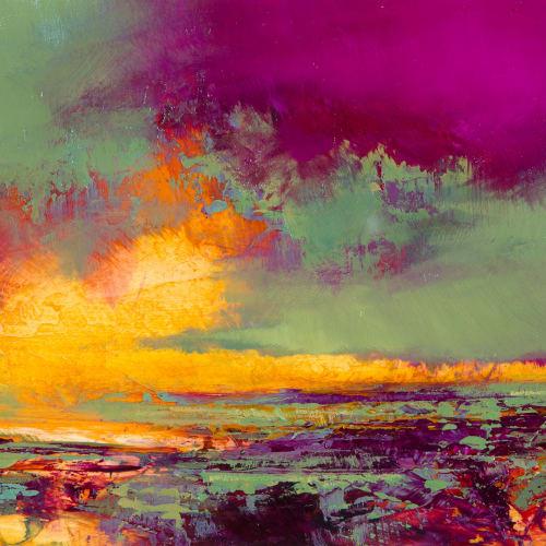 Kirstie Cohen  Landscape Study iii, 2018  oil on board  14cm x 20cm