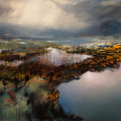 Beth Robertson Fiddes  Waiting for Winter, 2019  mixed media  76cm x 107cm  30 x 42 in