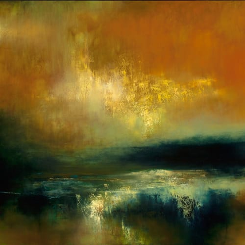 Kirstie Cohen  Hill Light Reflection, 2016  oil on canvas  100cm x 120cm