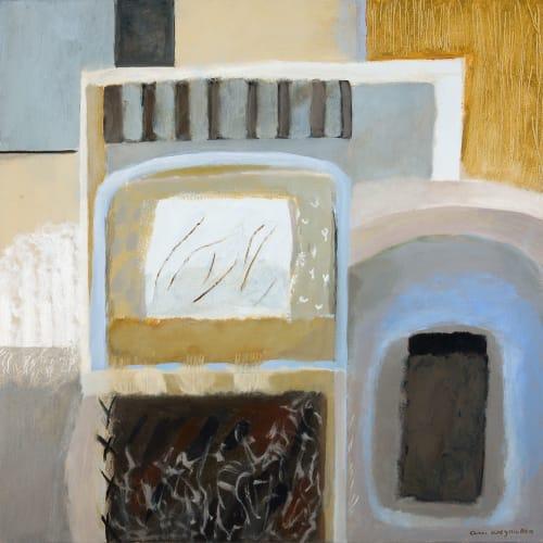 Ann Wegmuller RSW  Garden Ready 1  oil on canvas  60cm x 60cm