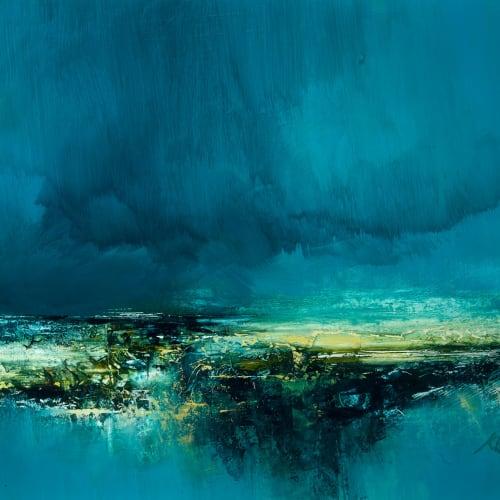 Kirstie Cohen  Cloudscape study  oil on board  30cm x 40cm