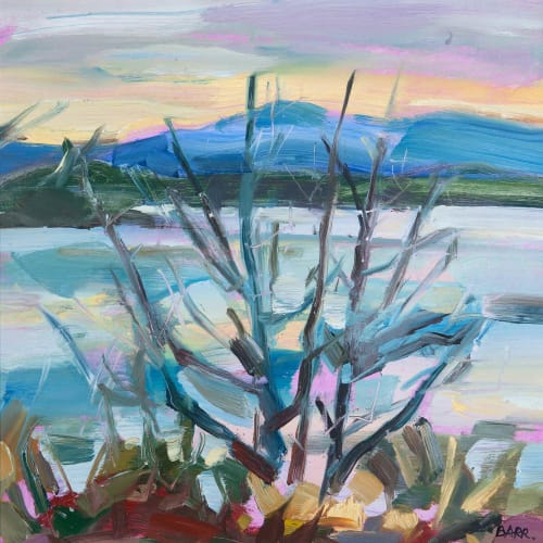 Shona Barr  Bare Trees (study)  oil on card  29.2 x 29.2 cm  11 1/2 x 11 1/2 in