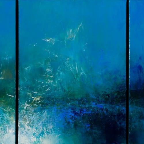 Kirstie Cohen  Sea Birds, 2020  oil on canvas  40cm x 90cm