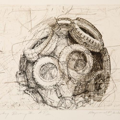 Ian Westacott and Raymond Arnold  Cromarty Buoy II, 2011  etching  24cm x 33cm