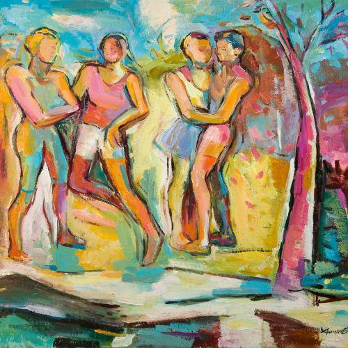 Annette Edgar  Spring Dance  oil on linen  81cm x 91cm