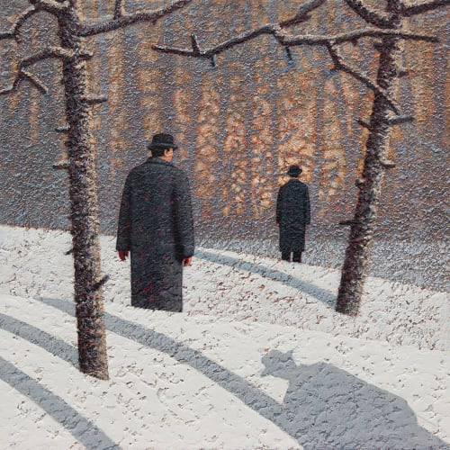 "<span class=""artist""><strong>Mark Edwards</strong></span>, <span class=""title""><em>Watching a Man Watching a Fire</em>, 2020</span>"