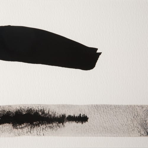 Mary Bourne  One Cloud over Sea  ink wash on paper