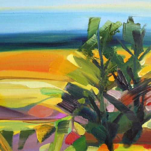 Shona Barr  Twin Trees  oil on canvas  41cm x 51cm  16 x 20 in