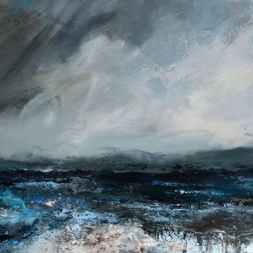 Janette Kerr  Low Tide - Dark Day, 2016  oil on canvas  70cm x 141cm