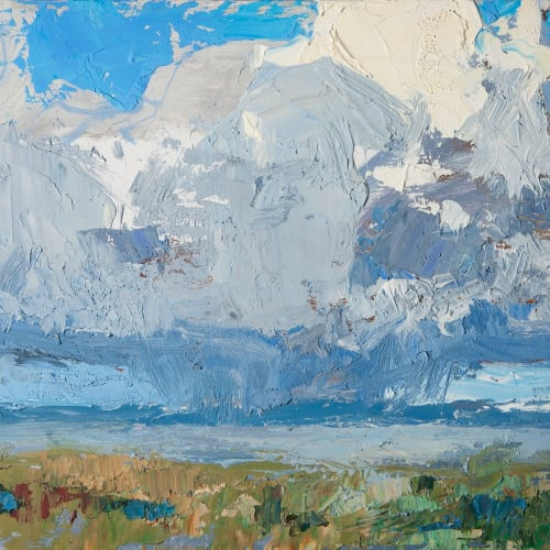 Allan MacDonald  form and void, Beauly Firth  oil on board  20cm x 25cm