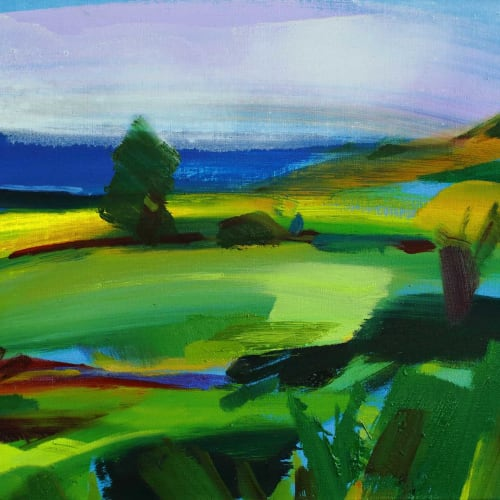 Shona Barr  The Green and Pleasant Land  oil on canvas  41cm x 61cm  16 x 20 in