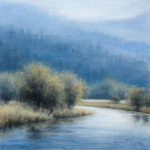 "<span class=""artist""><strong>Carina Prigmore</strong></span>, <span class=""title""><em>Autumn River</em>, 2020</span>"