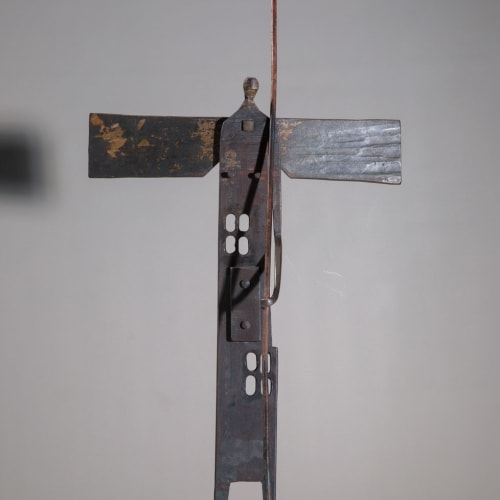 James Newton Adams  Heavy halo to bear, 2019  mild steel  84cm (h) x 39cm x 26cm