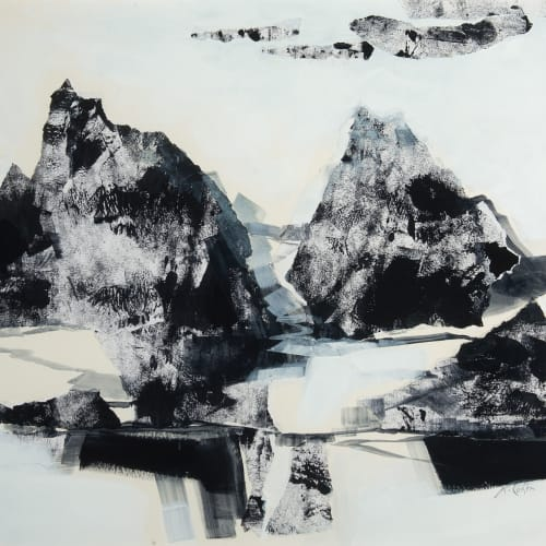 Kirstie Cohen  Mountain Rock I  mixed media  50cm x 56cm