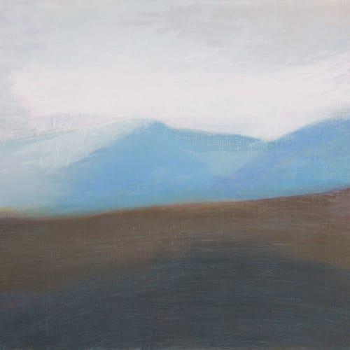 Jane MacNeill  North over Glen Tilt study, 2019  oil on board  30cm x 32cm