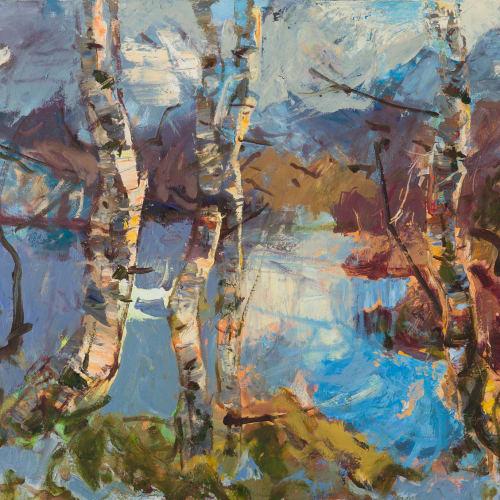 Allan MacDonald  excursion, Cul Beag, 2020  oil on canvas  76 x 101 cm  29 7/8 x 39 3/4 in