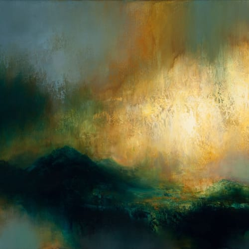Kirstie Cohen  Hill Light, 2016  oil on canvas  50cm x 70cm