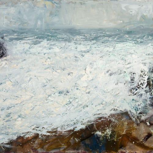 Allan MacDonald  storm before the calm  oil on canvas  50.5cm x 76cm