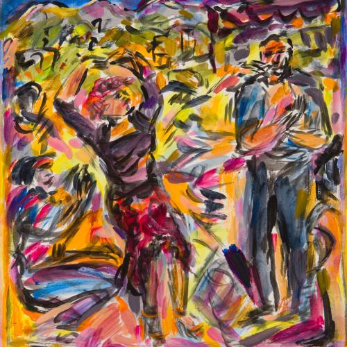 Fionna Carlisle  Koufos  acrylic  32cm x 30cm