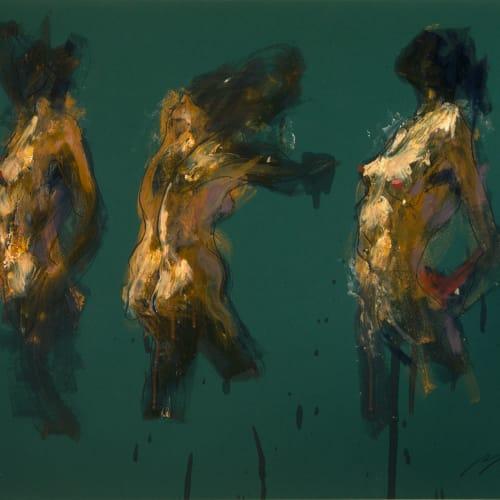 Alan McGowan  Johanna x 3  oil and pastel on paper  59cm x 84cm