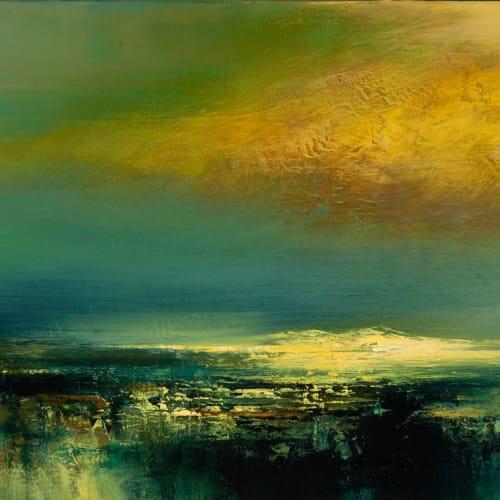 Kirstie Cohen  Yellow Cloud, 2016  oil on canvas  20cm x 40cm